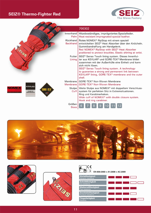 Seiz Thermo Fighter Red Katalogseite