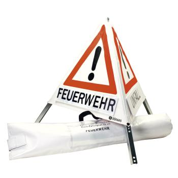 Dönges Klett-Faltsignal, 900 mm, Tagesleuchtfarbe, 3 x Feuerwehr
