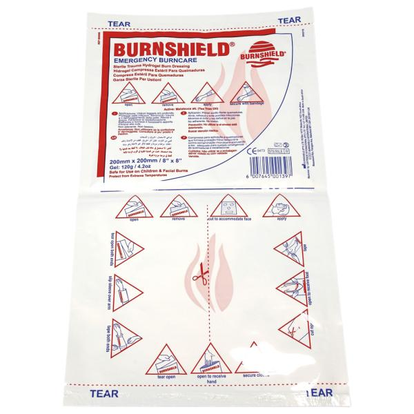 Burnshield Brandwundenverband, Kompresse, 20 x 20 cm
